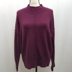 Pink Rose Mock Turtleneck Sweater XL